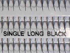 アイラッシュ シングル ロング ブラック