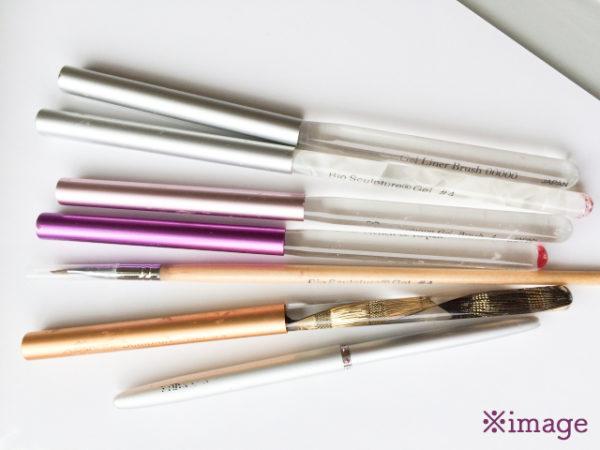 たくさんの筆